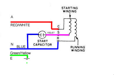Single phase induction motor wiring help needed Archive
